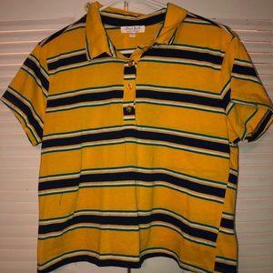 Striped Polo Crop top